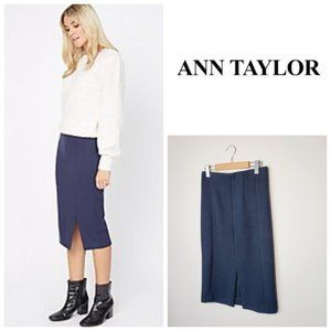 ANN TAYLOR Navy Quilted Pencil Skirt
